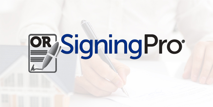Document with OR and Pen signing bottom with Signing Pro beside it